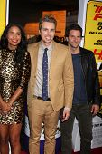LOS ANGELES - AUG 14:  Joy Bryant, Dax Shepard, Bradley Cooper arrives at the