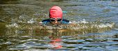 swimmer in breaststroke