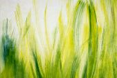 Abstract background with oil painted grass