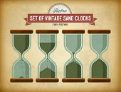 Set Of Vintage Sand Clocks