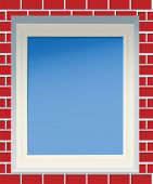 Window In A Red Brick Wall.