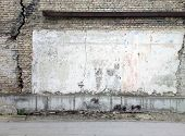 picture of wrecking  - Aged street wall background - JPG