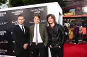 LOS ANGELES - MAY 20:  Zac Hanson, Taylor Hanson and Isaac Hanson at the