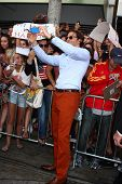 LOS ANGELES - MAY 16:  Bradley Cooper interacts with fans at the
