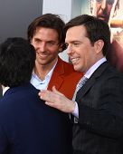LOS ANGELES - MAY 20:  Bradley Cooper, Ken Jeong and Ed Helms at the