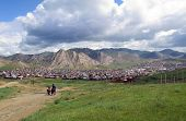 picture of ulaanbaatar  - Mountain town in the Mongolian country side - JPG