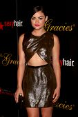 LOS ANGELES - MAY 21:  Lucy Hale arrives at the 38th Annual Gracie Awards Gala at the Beverly Hilton