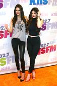 LOS ANGELES - MAY 11:  Kendall Jenner and Kylie Jenner attend the 2013 Wango Tango concert produced
