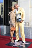 LOS ANGELES - MAY 13: Steve Harvey and Marjorie Bridges at a ceremony where Steve Harvey is honored with a star on the Hollywood Walk Of Fame on May 13, 2013 in Los Angeles, California