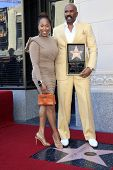 LOS ANGELES - MAY 13: Steve Harvey, Marjorie Bridges at a ceremony where Steve Harvey is honored with a star on the Hollywood Walk Of Fame on May 13, 2013 in Los Angeles, California