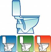 Toilet Bowl On Color Background
