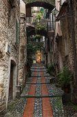 Street in Dolceacqua, Liguria, Italy