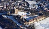Winter Aerial Of Bolsover Castle