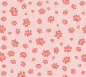 foto of painted toes  - Background animal footprints vector illustration  - JPG