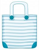 Illustration of a blue handy bag on a white background