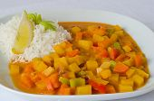 Rutabaga (swede) curry with coconut rice