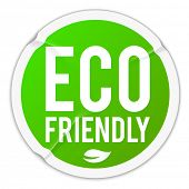 Eco friendly - wrinkled sticker - eps10