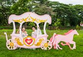 Asian Thai Bridal In Love Carriage