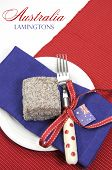 Australia Day, Anzac Day Or Australian Public Holiday Or National Event Dining Table Place Setting W