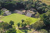 pic of atonement  - aerial view of Altun Ha maya ruins in the tropical jungle of Belize - JPG