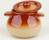 Brownish Stoneware Pot