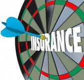 Insurance Word Dart Board Choosing Best Policy Plan Coverage