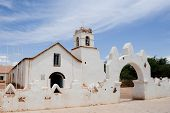 CHILE - FEBRUARY 9: The San Pedro de Atacama Church in San Pedro near the Atacama Desert in northern