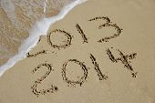 New Year 2014 Coming Concept