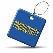 picture of productivity  - productivity industrial or business productive time management production costs maximizing output rate - JPG
