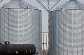 Agricultural Grain Silos Exterior Railway Wagon