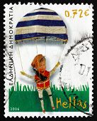 Postage Stamp Greece 2006 Parachutist, C. 1950, Toy