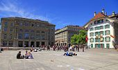 Bundesplatz Square In Bern, Switzerland