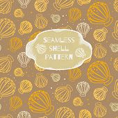 Seamless Shell Vector Pattern