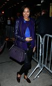 NEW YORK-DEC 21: TV personality Alicia Quarles attends a release party and screening for the album '