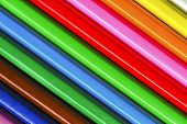 stock photo of oblique  - Oblique Diagonal Pencils Stripes Macro Close Up - JPG