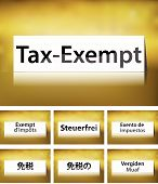 Tax-Exempt Concept on white background