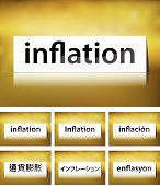 Inflation Concept on white background