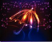 neon umbrella