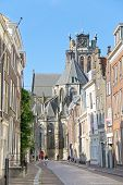 Grote Kerk Church, The Main Attraction Of Dordrecht.