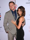 LOS ANGELES - MAY 03:  Melissa Rycroft & Tye Strickland arrives to the Race To Erase MS 2013  on May