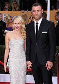 LOS ANGELES - JAN 27:  Liev Schreiber & Naomi Watts arrives to the SAG Awards 2013  on January 27, 2