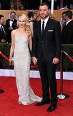 LOS ANGELES - JAN 27:  Liev Schreiber & Naomi Watts arrives to the SAG Awards 2013  on January 27, 2013 in Los Angeles, CA