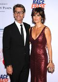 LOS ANGELES - MAY 03:  Harry Hamlin & Lisa Rinna arrives to the Race To Erase MS 2013  on May 03, 20