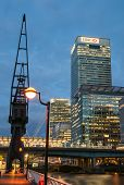West India Quay in der Nacht