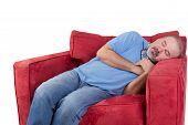 Man Fallen Asleep While Watching Television