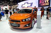 Nonthaburi, Thailand - December 6: Chevrolet Sonic In 30Th Thailand International Motor Expo On Dece