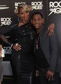 LOS ANGELES - JUN 08: Mary J. Blige & step son arrives at the