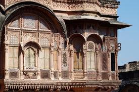 stock photo of eunuch  - Zenana Deodi inner sanctum of the medieval Mehrangarh fort once guarded by eunuchs where the Maharaja - JPG
