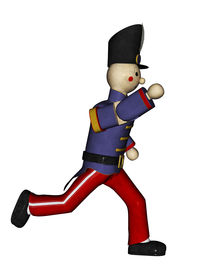 pic of tchaikovsky  - Toy soldier in blue uniform running  - JPG