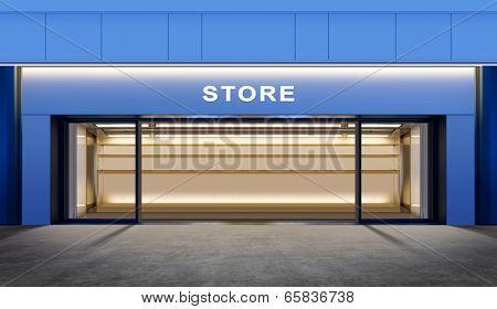 modern empty store on street